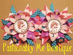 Fancy Nancy Boutique Stacked Bottlecap Bow by FashionablyMeBows, $10.00