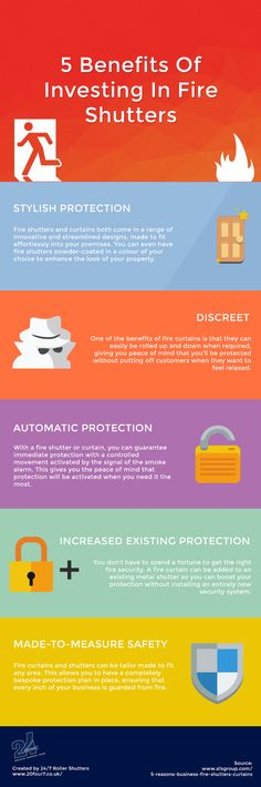5 Benefits Of Investing In Fire Shutters  #Safety #Fire #Infographic