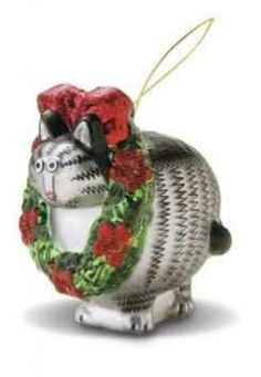This Kliban Cat Ornament Brings A Bit Of Hawaii With Him - Perfect For Decorating Your Christmas Tree With A Hawaiin Flair.