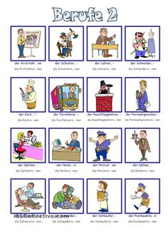 Berufe Bildwörterbuch 2