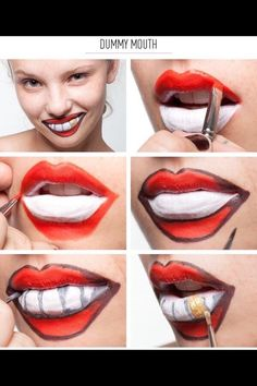 33 Totally Creepy Makeup Tutorial To Try This Halloween? 33 Totally Creepy Makeup Tutorial To Try This Halloween? Yeux Halloween, Diy Halloween Costumes, Halloween Kunst, Halloween Halloween, Maquillaje Halloween Tutorial, Creepy Makeup, Funny Makeup, Clown Makeup, Lipsense Lip Colors
