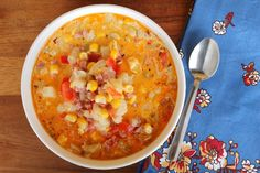 Ham and Corn Chowder ~ NEW 31 Days of Chili, Soups & Stews