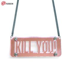 ADEEN NYC (エディーン) KILL YOU! NECKLACE (PINK MIRROR) [ネックレス/アクリル] [ピンク]【楽天市場】