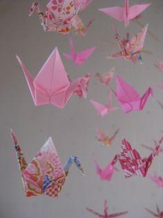 Origami Crane Mobile  Fairy Folk by makikomo on Etsy, $36.00