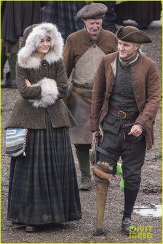 Behind the Scenes Photos of 'Outlander' Season Four Filming in Dunure | Outlander TV News