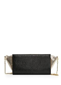 TOUCH - Bag for carrying on the shoulder with metallic accents Mango Bags, Black Gold, Shoulder, Metallic, Touch, Accessories, Photos, Pictures