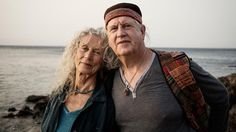 Angela Farmer and Victor van Kooten at the Eftalou Beach in Molyvos on the island Lesvos.