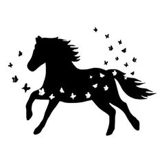 If you love horses, you'll love these svg cut files by White Oak Originals on Etsy! Horse Stencil, Animal Stencil, Animal Line Drawings, Art Drawings, Tribal Animal Tattoos, Cutting Horses, Horse Silhouette, Cartoon Girl Drawing, Viking Symbols