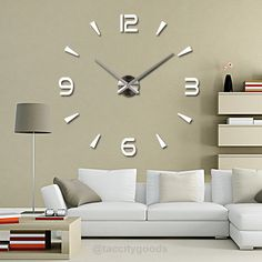 Cheap Wall Clocks, Buy Directly from China New High Quality Wall Stickers Creative Fashion Living Room Clocks Large Wall Clock DIY Home Decoration Acrylic + EVA Wall Clock Sticker, Big Wall Clocks, Mirror Wall Clock, Living Room Clocks, Mirror Wall Stickers, 3d Mirror, Living Room Wall Stickers, Wall Decal, Room Stickers