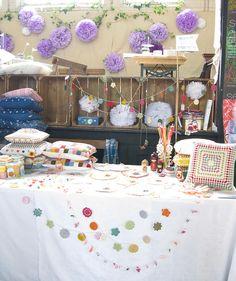 *** Emma Lamb's booth @ Selvedge Spring Fair.