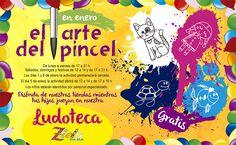 """Ven a Zielo Shopping Pozuelo y disfruta con las actividades de nuestra ludoteca situada en la planta alta. Cada mes te esperan nuevas sorpresas donde te lo pasarás en grande, en enero """"el arte del pincel"""", ¡¡¡no te lo pierdas!!!  #Zielo #ludoteca"""