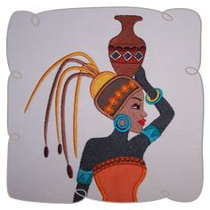 Dharia African Lady 4: Embroidershoppe