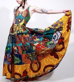 Awesome... African wax print tribal ethnic gypsy by ChopstixWaits