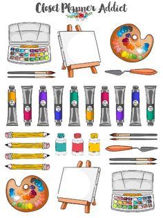 Kawaii Drawings, Art Drawings Sketches, Cute Drawings, Planner Stickers, Journal Stickers, Aesthetic Stickers, Art Plastique, Cute Stickers, Doodle Art