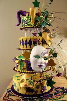 mardi gras cakes pictures   Masquerade 2 Cake