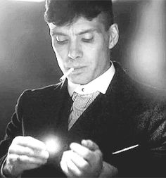 Tommy Shelby smoking GIF, Peaky Blinders