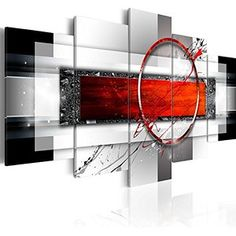 Bilder 200x100 cm - 3 Farben zur Auswahl ! XXL Format! Fertig Aufgespannt TOP Vlies Leinwand - 5 Teilig - Abstrakt Wand Bild Bilder Kunstdrucke Wandbild a-A-0052-b-n 200x100 cm B&D XXL