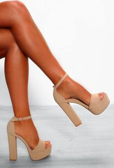 """Just Block Him Nude Chunky Platform Block Talons - Just Block Him Nude Chunky Platform Block Heels Womens Size 3 """" Just Block Him Nude Chunky Platfo - Tan Sandals Heels, Nude High Heels, Sandals Outfit, Stiletto Heels, Pretty Shoes, Cute Shoes, Platform Block Heels, Chunky Platform Heels, Chunky High Heels"""