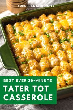 This Tater Tot Breakfast Casserole Has Super Creamy Eggs, Bacon And 2 Kinds Of Cheese! It's Easy To Make Ahead Of Time And Is Perfectly Freezer-friendly!. Ground Beef Crockpot Recipes, Beef Recipes, Cooking Recipes, Hamburger Recipes, Tater Tot Recipes, Beef Casserole Recipes, Quiche Recipes, Best Tater Tot Casserole, Kitchens