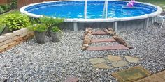 Above Ground Pool Installation Photos - The Pool Factory Above Ground Pool Landscaping, Fire Pit Landscaping, Above Ground Pool Decks, In Ground Pools, Diy Swimming Pool, My Pool, Semi Inground Pools, Pool Installation, Building A Pool