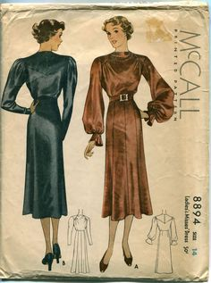 1930s DRESS PATTERN Cocktail Dress by DesignRewindFashions on Etsy