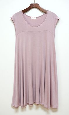 Far From Basic Swing Dress, Lavender - Conversation Pieces