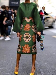 Summer Women Long Sleeve Printed Fashion Midi Plus Size Dress Hot Sale!Summer Women Long Sleeve Printed Fashion Midi Plus Size Dress - Unique Long Hairstyles Ideas Green Fashion, Look Fashion, Fashion Outfits, Womens Fashion, Fall Fashion, Fashion Coat, Floral Fashion, Cardigan Fashion, Sweater Outfits