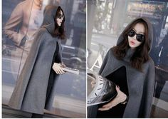Womens-Long-Trench-Coat-Sleeveless-Hot-hooded-Cloak-Cape-Jacket-Outwear-Stylish