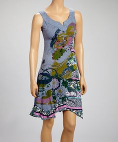 Take a look at the Farinelli Blue Floral Yoke Dress on #zulily today!
