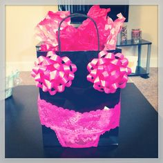 Bachelorette party gift OR great gift wrap idea for a Girls Night Out to celebrate a birthday!