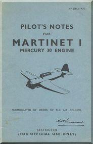 Miles Martinet I  Aircraft Pilot's Notes Manual