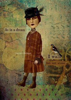 Inspirational collage print art vintage birds by magymai711