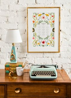 2014 Scandinavian floral wall calendar & giveaway from The House That Lars Built