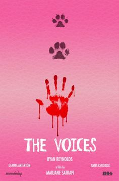 First THE VOICES poster starring Ryan Reynolds, Gemma Arterton, Anna Kendrick