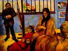 Paul Gauguin (French, 1848-1903),La famille Schuffenecker, 1889. Oil on canvas,73 x 92 cm (28.7 x 36.2 in), Musée d'Orsay, Paris.