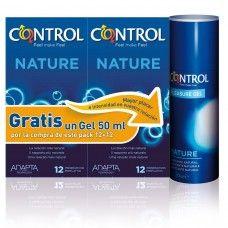 PACK PRESERVATIVOS CONTROL NATURE 2 + LUBRICANTE 50ML. #preservativos #pack #lubricante