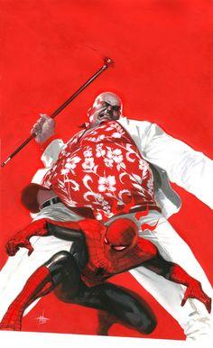 Spider-Man vs Kingpin by Gabriele Dell'otto