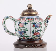 Lot 443 S50 - Chinese Famille Rose Teapot - Est. $800-1000 - Antique Reader
