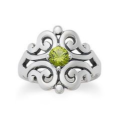 Spanish Lace Ring with Peridot | James Avery $135/1st anniversary