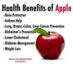 Health Benefits of Apple  http://www.facebook.com/tridoshawellness  http://www.tridoshawellness.com/