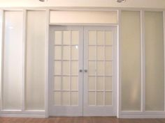 Glass French Doors, Interior French Doors, Craftsman Interior, Glass Door  Designs, Frosted Glass Door, Office Doors, Internal Doors, French Open,  White ...