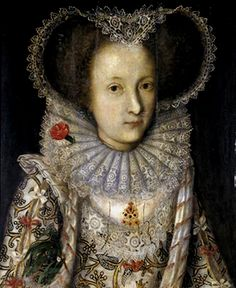 Posthumous Portrait of Queen Elizabeth I by studio of Larkin,c.1600