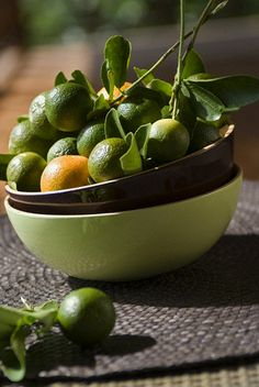 ♂ Food photography food styling still life - Green orange in bowl