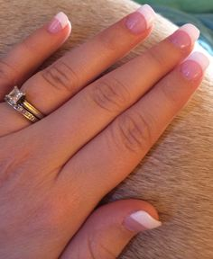 French tip nails French tip nails French Manicure Gel, French Nails, French Manicures, White Tip Acrylic Nails, Square Acrylic Nails, Acrylic Nail Designs, Fabulous Nails, Gorgeous Nails, Country Nails