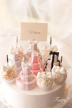 たっぷりフリルと3段ミニケーキのメモスタンドのご注文 | 大阪・河内長野「可愛いクレイケーキとおうちde手作り和菓子」Atelier Fairy*の手仕事綴り…