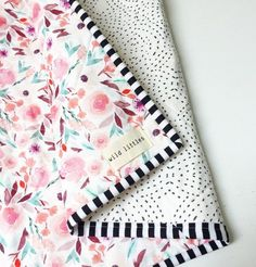 Items similar to Modern Wholecloth Baby Quilt-Modern Baby Girl Quilt-Baby Quilt Blanket-Watercolour Floral Baby Quilt, Boho Baby Quilt, Indie Baby Quilt on Etsy Baby Girl Bedding, Baby Girl Quilts, Girls Quilts, Quilt Baby, Chevron Baby Quilts, Owl Quilts, Baby Patchwork Quilt, Whole Cloth Quilts, Boho Baby