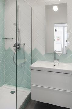 If you have a small bathroom in your home, don't be confuse to change to make it look larger. Not only small bathroom, but also the largest bathrooms have their problems and design flaws. Bathroom Wall Decor, Budget Bathroom, Bathroom Interior Design, Modern Bathroom, Small Bathroom, Bathroom Ideas, Minimal Bathroom, Bathroom Designs, Best Bathroom Colors