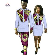 Image of New Lovers Womens Mens African Ankara Clothing Two Sets Matching Couples African Clothes long Sleeve summer wedding dress Couples African Outfits, African Shirts, African Dresses For Women, Couple Outfits, African Fashion Dresses, African Wear Styles For Men, African Attire For Men, African Clothing For Men, Ankara Clothing