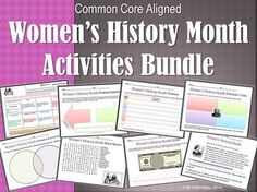 Women's History Month Activities Bundle (Common Core Aligned).  This Common Core-aligned,20-page activities bundle compliments any read-aloud that you do in your class at multiple grade levels. Great for classwork, partner work, small groups, homework, or for research purposes when learning about the life and times of any woman with historical implications.