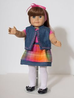 18 inch American Girl Doll Clothes Denim Skirt by ElliesStitches